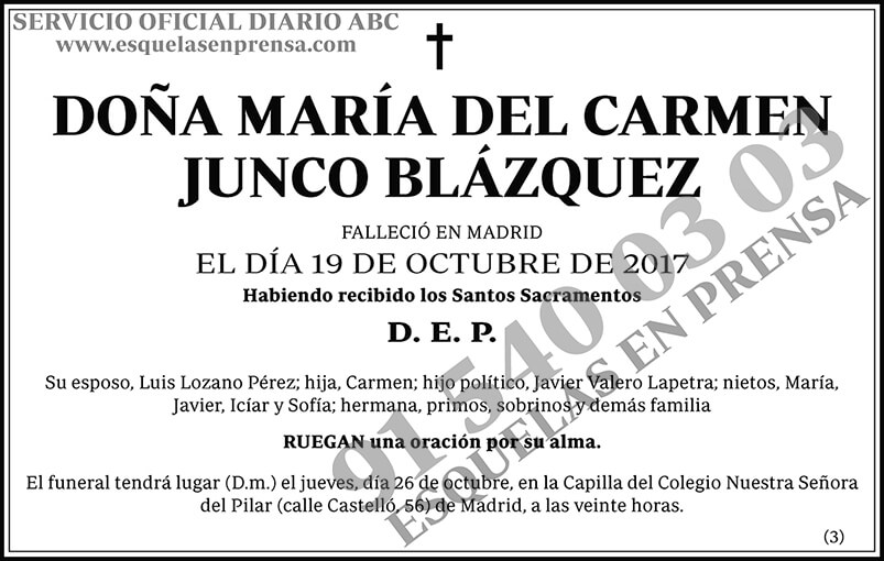 María del Carmen Junco Blázquez